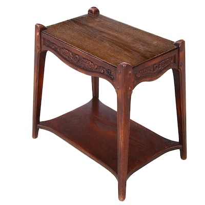 Romweber Oak Side Table, Mid 20th Century
