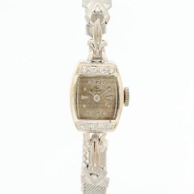 14K White Gold Diamond Paul Breguette Wristwatch