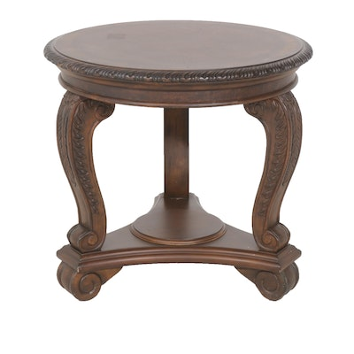 T.S. Berry Wood Round Accent Table