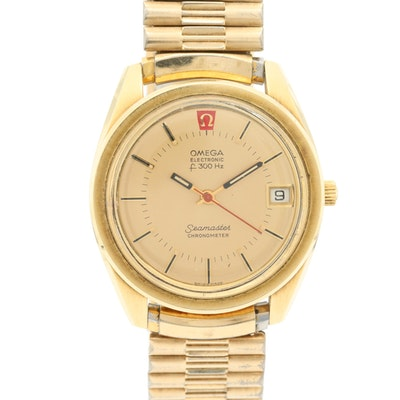 Vintage Omega Seamaster Gold Tone Tuning Fork Electric Wristwatch, Circa 1970