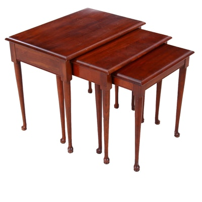 Federal Style Walnut Finish Nesting Tables