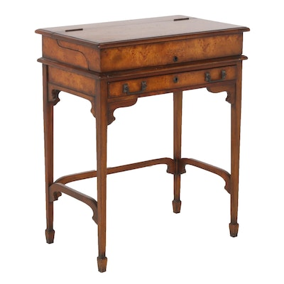 Theodore Alexander Burl Wood Lift-Top Desk