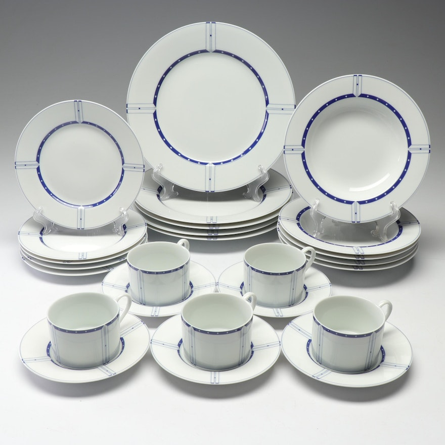 "Swid Powell ""Chicago Blues"" Dinnerware"