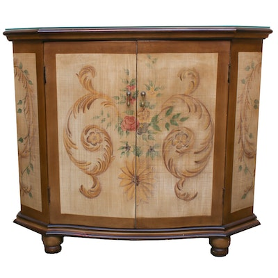 Contemporary Faux Finished Hall Cabinet