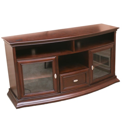 Contemporary Mahogany Finish Wooden Entertainment Center