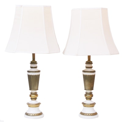 Regency Style Metal Lamps, Mid to Late 20th Century