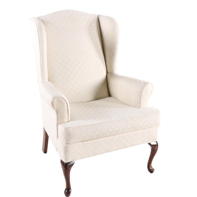 Paul Robert Queen Anne Style Upholstered Arm Chair, 20th Century