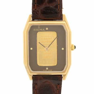 Sigma Gold Ingot Dial Quartz Wristwatch