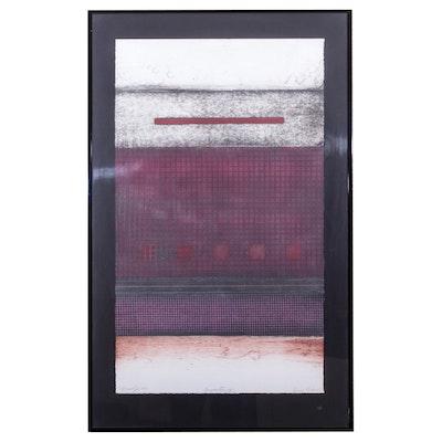 """Enrico Embroli Abstract Monotype Print """"Composition III"""""""
