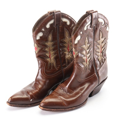 Women's Durango Tri-Tone Leather Western Shortie Boots