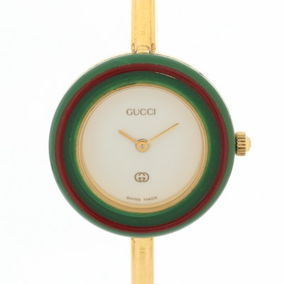 Vintage Gucci Gold Tone Quartz Wristwatch