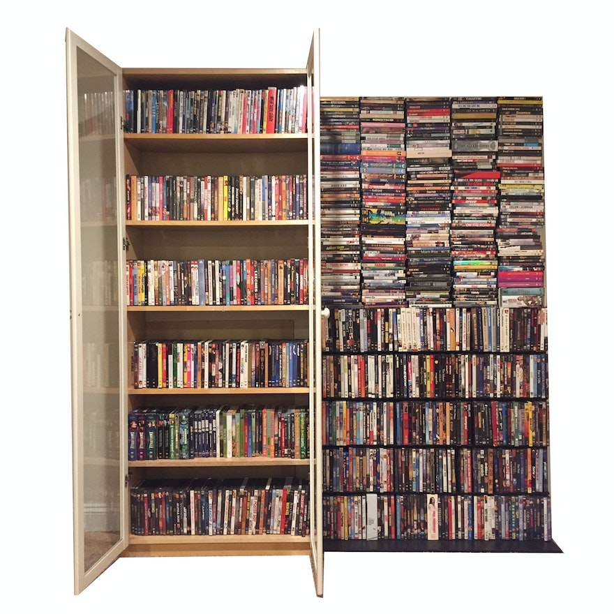 DVDs Including Classic and Contemporary Films and Television Series