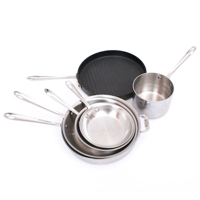 All-Clad Brushed Stainless Steel Pots and Pans