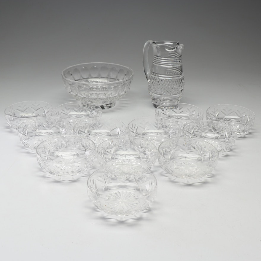 Stuart Crystal Bowls and Pitcher