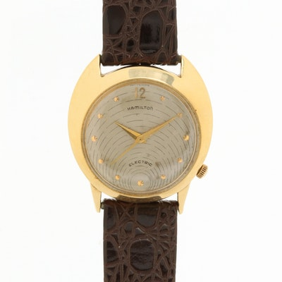 "Vintage Hamilton Electric ""Spectra"" 14K Gold Wristwatch, 1957"
