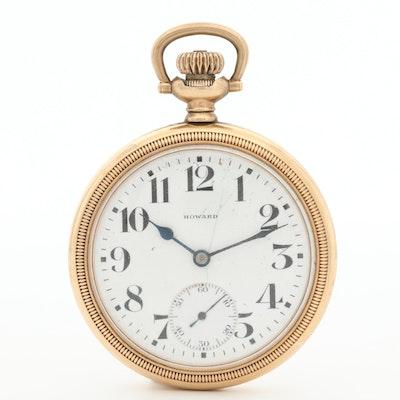1912 E. Howard Watch Co. Gold Filled Open Face  Pocket Watch