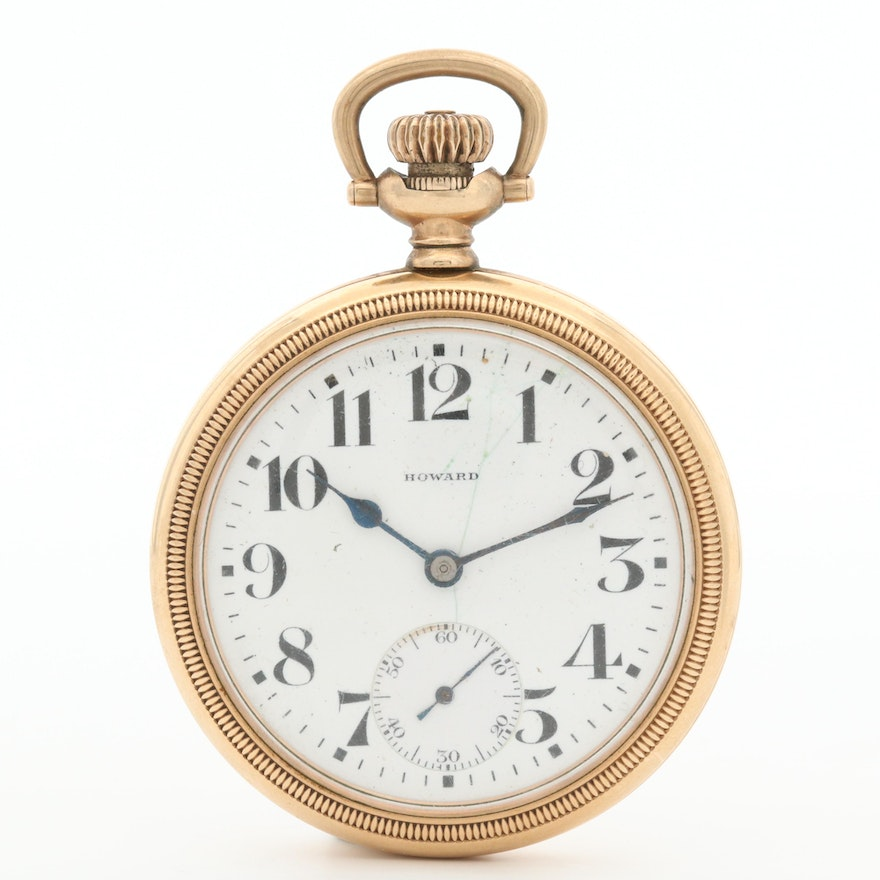 1912 E. Howard Watch Co. Gold Filled Open Face  Pocket Watch