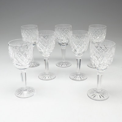 "Waterford Crystal ""Avoca"" Claret Glasses, Vintage"