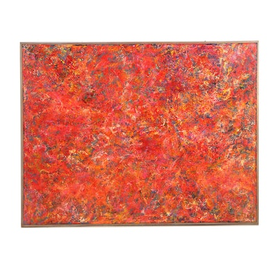"""Orbedonna Abstract Acrylic Painting """"Urban Forest"""""""