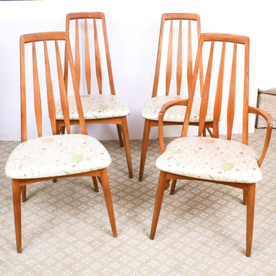 "Four Niels Koefoed ""Eva"" Danish Teak Modern Dining Chairs"