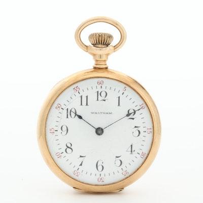 1900 American Waltham 14K Gold Pocket Watch