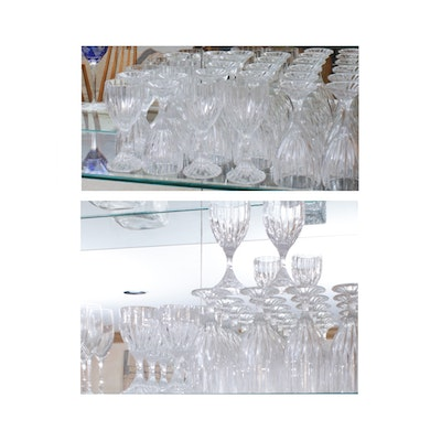 "Mikasa ""Park Lane"" Crystal Water Goblets and Wine Glasses"