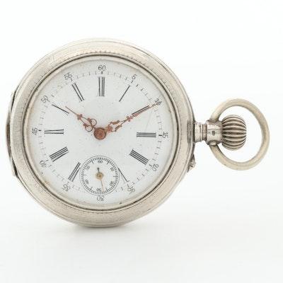 European 800 Silver Pocket Watch