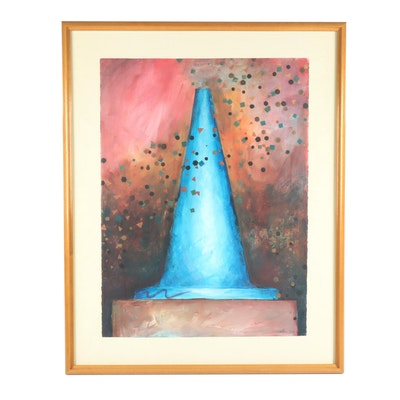 "1997 Oil Painting ""Cone Still Life"""