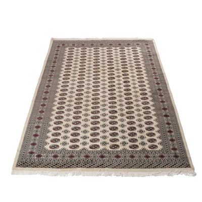 6'2 x 9'4 Hand-Knotted Pakistani Turkoman Rug