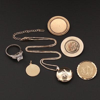 Costume Jewelry Assortment Including Cubic Zirconia and Rhinestones