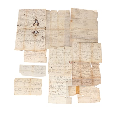 United States Hand-Written Documents, Early 19th Century