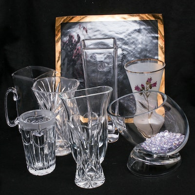 Waterford, Simon Pearce, Block and Other Crystal and Glass Vases and Pitchers