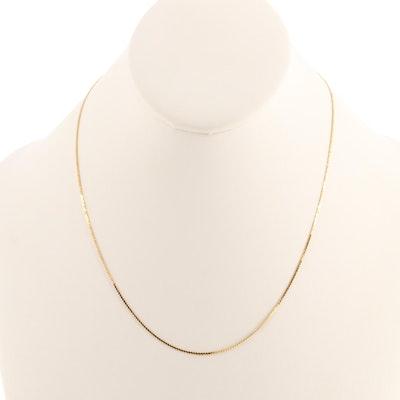 14K Yellow Gold Serpentine Chain
