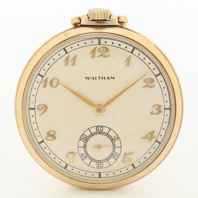 Circa 1946 Waltham 10K Gold Filled Pocket Watch