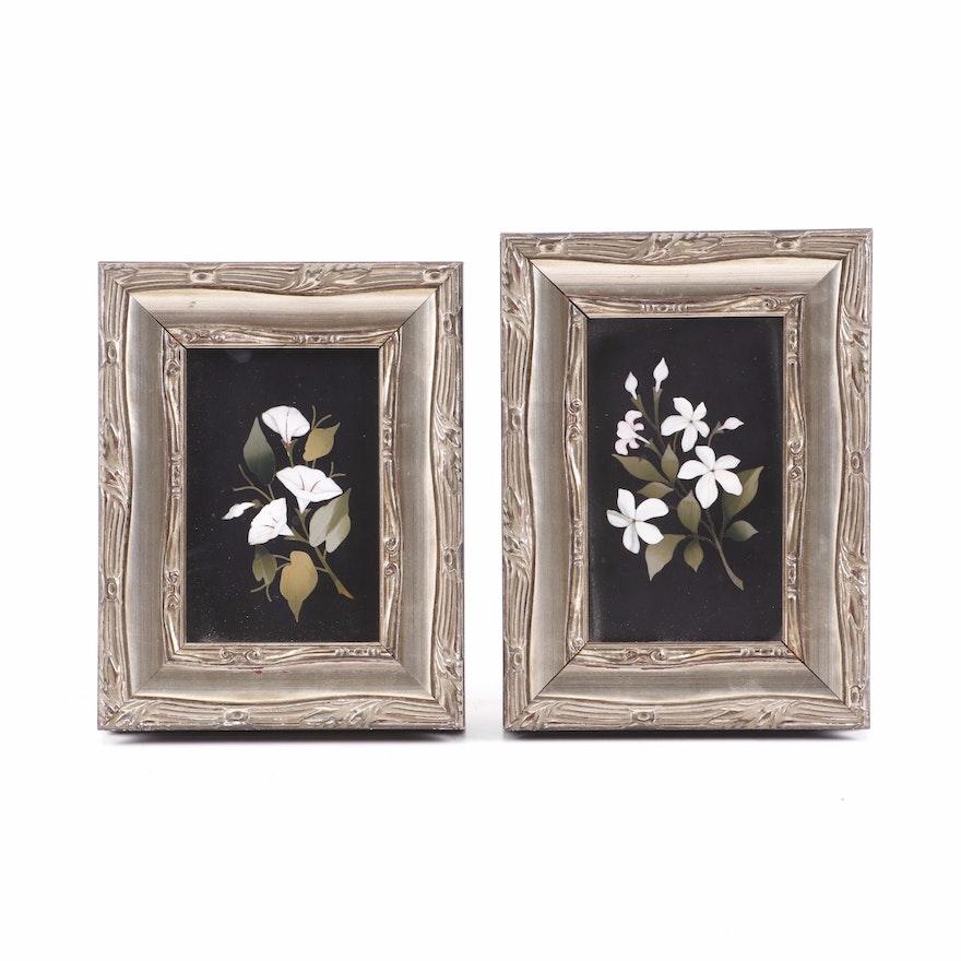 Italian Pietra Dura Floral Panels