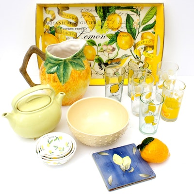 Lemon Themed Tea Set