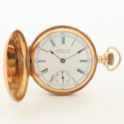1896 American Waltham 14K Yellow Gold Pocket Watch