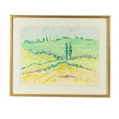 Jean-Marie Toulgouat Landscape Oil Painting
