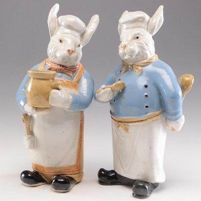 Rabbit Chef Ceramic Figurines