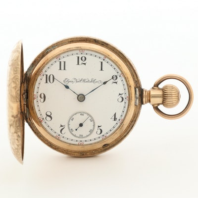 Elgin National Watch Company Gold Filled Hunting Case Pocket Watch, Circa 1894
