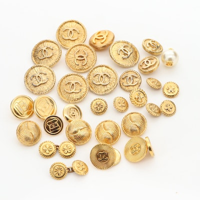 Vintage Couture Chanel Buttons and Cufflinks