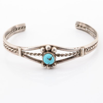 Sterling Silver and Turquoise Bangle Bracelet