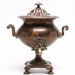 English Copper and Brass Samovar, Late 19th / Early 20th Century