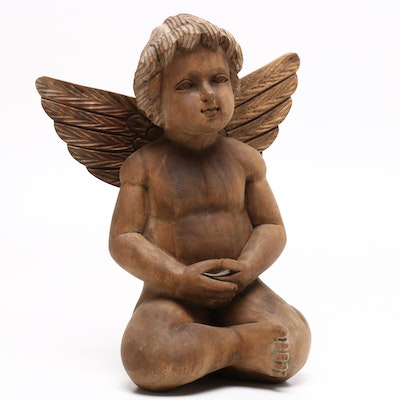 Angel Carved Wooden Statue