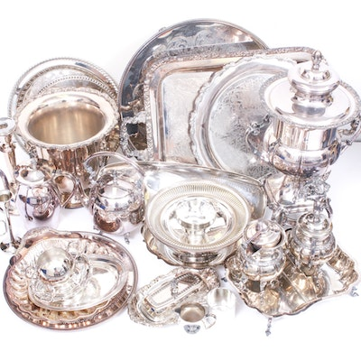 Silver Plate Tableware and Serveware Including W.M. Rogers