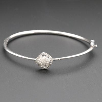 Sterling Silver Diamond Bangle Bracelet