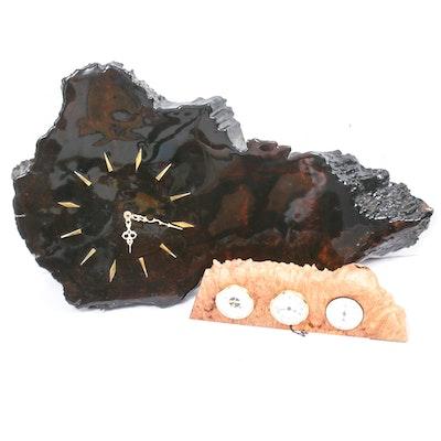 Wood Slab Clocks