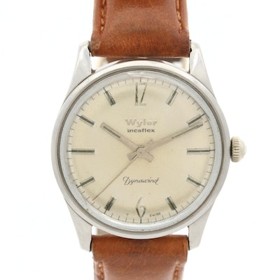 Vintage Wyler Dynawind Stainless Steel Automatic Wristwatch