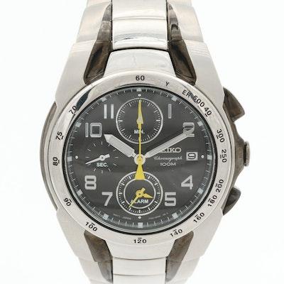 Seiko TT62-0EH0 Stainless Steel Quartz Chronograph Wristwatch With Alarm