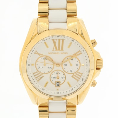 Michael Kors Bradshaw Gold Tone Chronograph Quartz Wristwatch